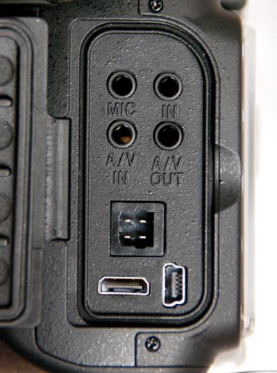 Nikon microphone A/V input output